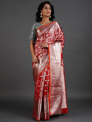 Red Venkatgiri Silk Saree