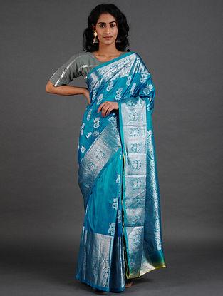 Blue Venkatgiri Silk Saree