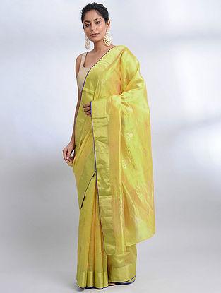 Green Handwoven Pranpur Mulberry Silk Saree
