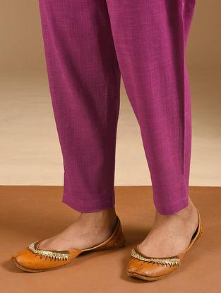 Pink Elasticated Waist Cotton Slub Pants