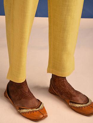 Yellow Elasticated Waist Cotton Slub Pants