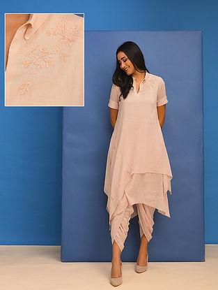 TANMAYI - Pink Cotton Mul Embroidered Tunic
