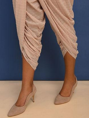 Pink Elasticated Waist Cotton Dobby Dhoti Pants