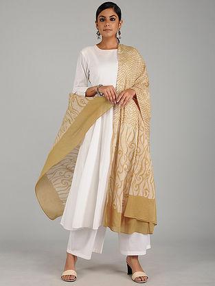 Beige-Ivory Batik Printed Cotton Dupatta