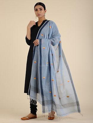 Blue-Yellow Jamdani Cotton Dupatta