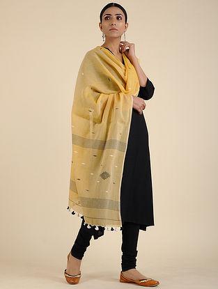 Yellow Jamdani Cotton Dupatta