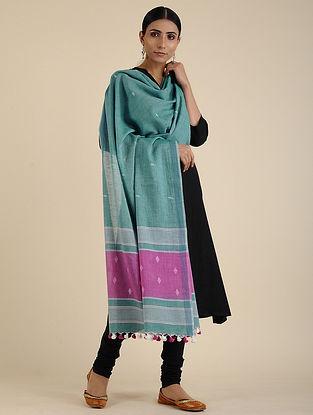 Green-Purple Jamdani Cotton Dupatta