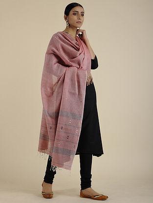 Pink-Black Cotton Dupatta