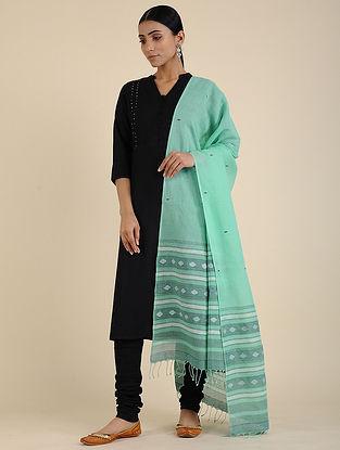 Green-Ivory Jamdani Cotton Dupatta