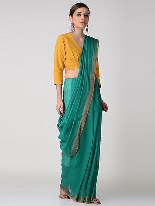 Green-Orange Cotton-Silk Saree