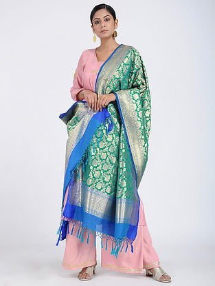 Green Benarasi Art Silk Dupatta