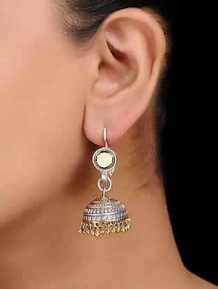 Classic Dual Tone Handcrafted Jhumkis
