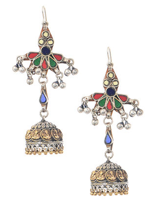 Multicolored Dual Tone Jhumkis with Ghungroo