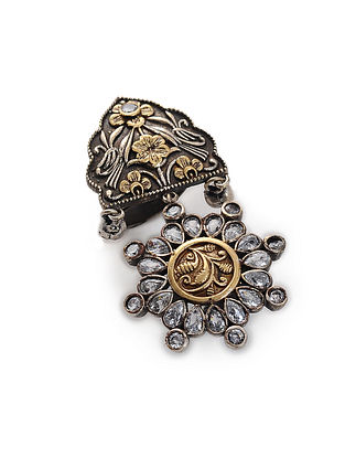 Classic Dual Tone Handcrafted Brass Ring