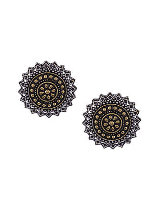 Dual Tone Handcrafted Stud Earrings