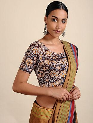Maroon-Ivory Kalamkari Printed Cotton Blouse