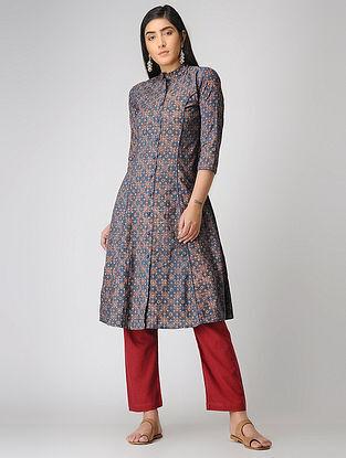 Blue Ajrakh-printed Cotton Kurta