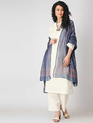 Ivory Cotton Dobby Kurta