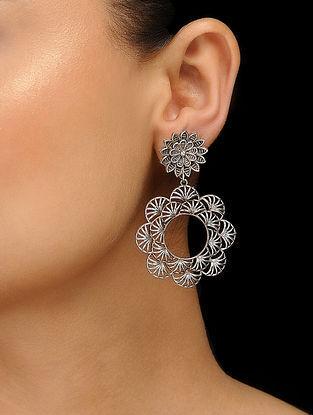 Classic Silver tone Copper Earrings