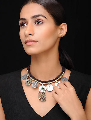 Black Green Dual Tone Tribal Necklace