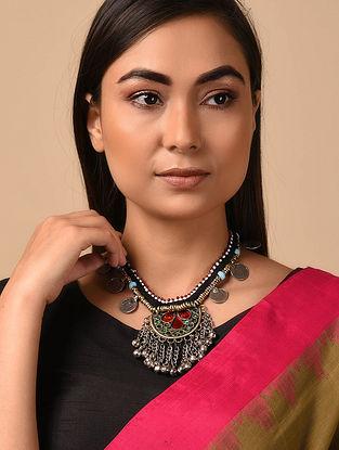 Black Silver Tone Vintage Necklace