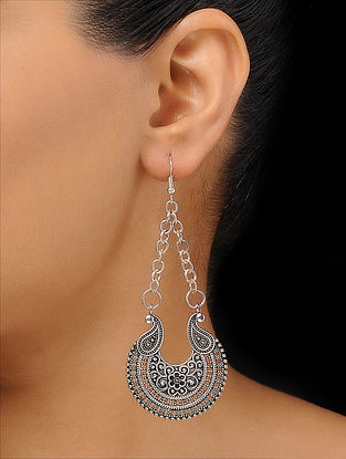 Classic Silver Tone Earrings