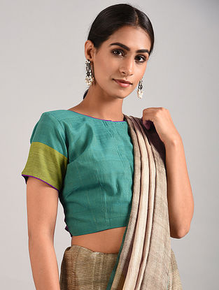 Green Hand Embroidered Cotton Blouse