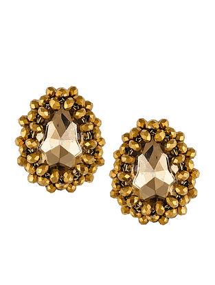 Classic Gold Tone Stud Earrings