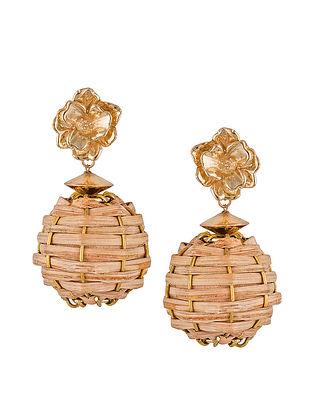 Classic Gold Tone Bamboo Stud Earrings