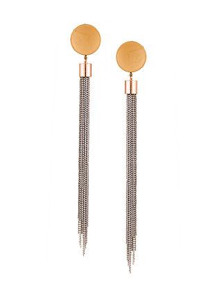 Classic Dual Tone Tassel Earrings