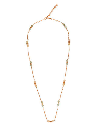 Gold Tone Moonshine Beaded Necklace