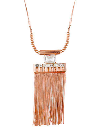 Classic Gold Tone Necklace with Tassels