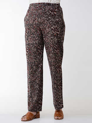 Kashish-Madder Jawata Block-printed Elasticated-waist Cotton Pants