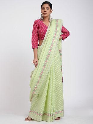 Green Benarasi Silk Cotton Saree