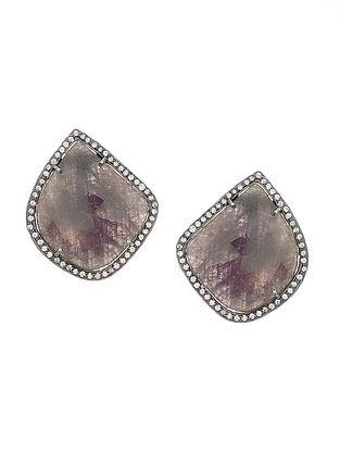 Multi Sapphire Handcrafted Silver Earrings