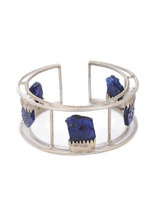 Blue Tribal Silver Cuff