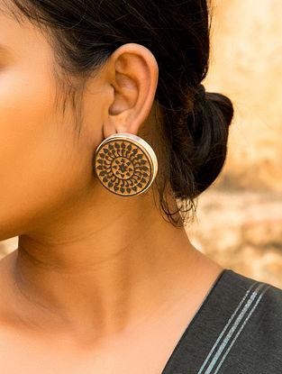 Teak Wood Tribal Earrings