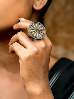 Teak Wood Tribal Ring