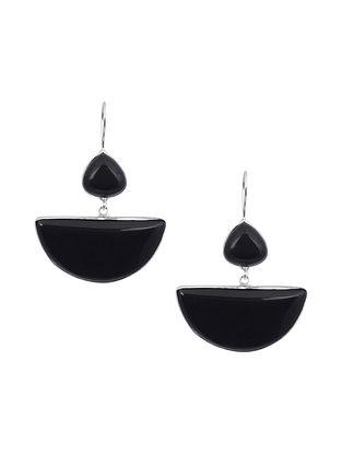 Black Silver Tone Earrings