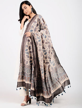 Kashish Ajrakh-printed Silk Cotton Dupatta