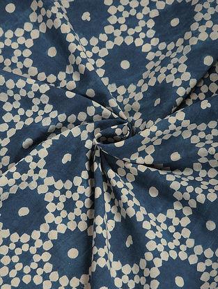 Indigo-Ivory Ajrakh Cotton Fabric