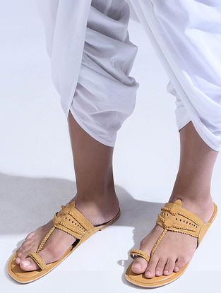 Mustard Handcrafted Leather Flats