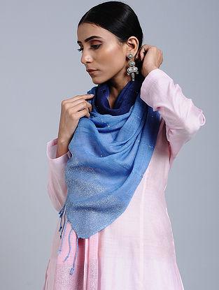 Blue Tie Dye Handloom Linen Stole