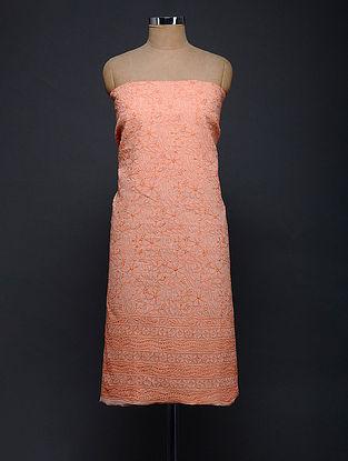 Pink-Ivory Chikankari Kota Doria Kurta Fabric