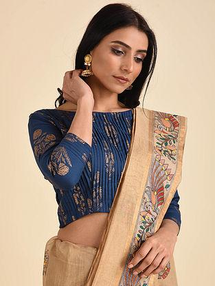 Blue Printed Cotton Blouse
