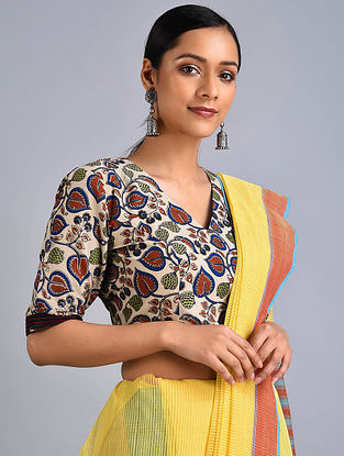 Multicolored Printed Cotton Blouse