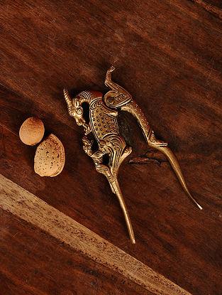 Brass Yali Nut Cracker (5in x 1.7in)