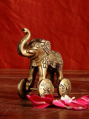 Brass Elephant (L- 3in, W- 1.5in, H- 3in)