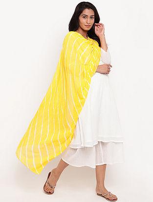Yellow Leheriya Chiffon Dupatta