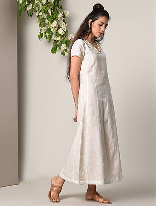 White Cotton Dress with Lace